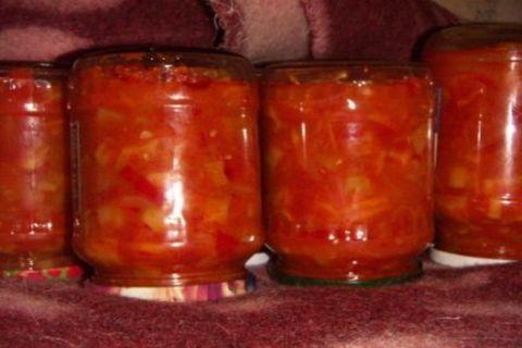 консервация томат и кабачок