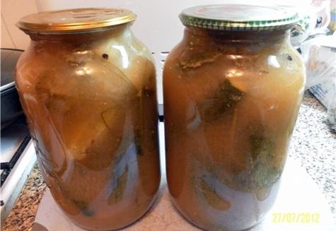 огурцы в яблочном соке в банках