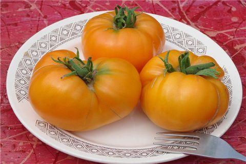 помидоры на тарелке