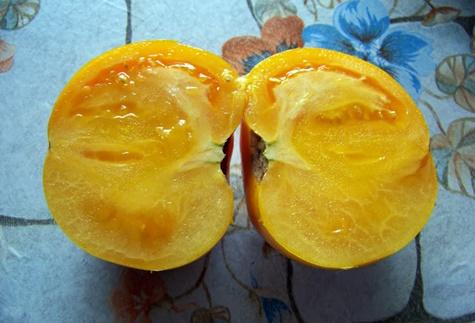 томат король медовый внутри