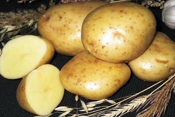желтая картошка