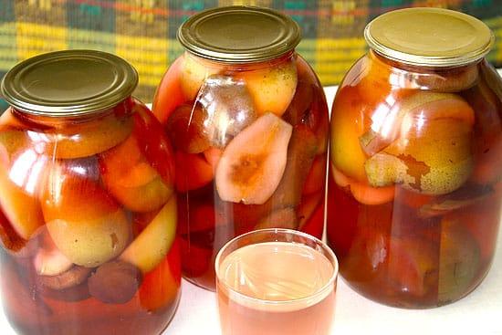 компот их груш и яблок