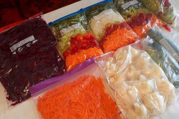 овощи в пакетах
