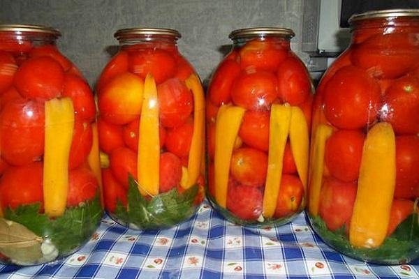 томаты с перцем