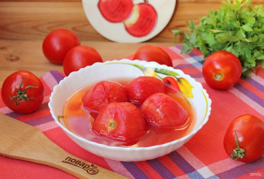 помидоры очищенные консервированные